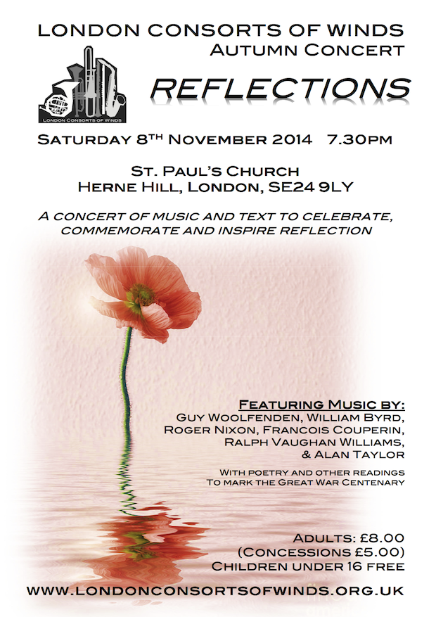 Flyer for the 2014 autumn concert