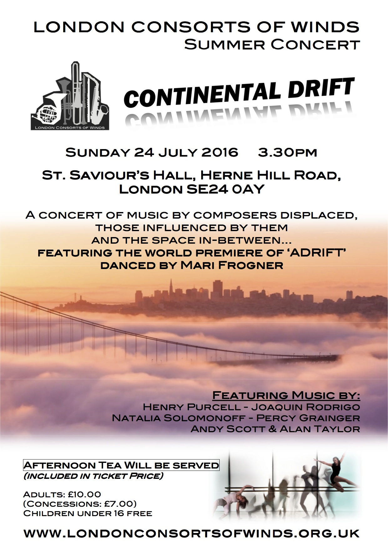 Flyer for the upcoming summer concert - click for PDF version